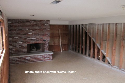 basement before remodel