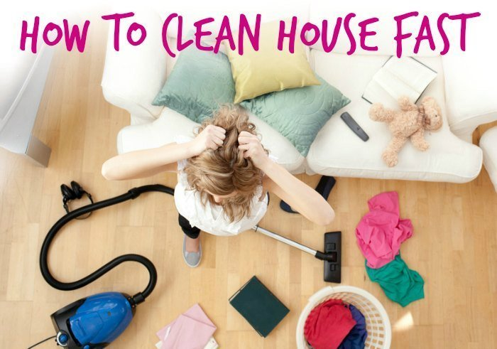 how to clean house fast woman messy room